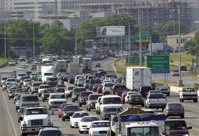 congested roads austin